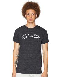 The Original Retro Brand - It's All Good Vintage Tri-blend Tee (streaky Black) Men's T Shirt - Lyst
