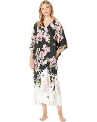0f41adbb48 Natori - Gardenia Caftan (black) Women s Pajama - Lyst