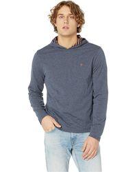 52db36f39 Original Penguin - Long Sleeve Reversible Stripe Hoodie (dark Sapphire)  Men s Sweatshirt - Lyst