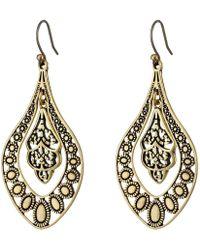 Lucky Brand - Sahara Dust Filligree Oblong Earring - Lyst