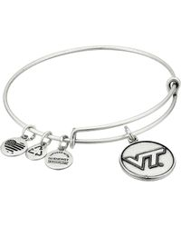 ALEX AND ANI - Virginia Tech Logo Expandable Bangle (silver) Bracelet - Lyst