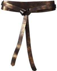 Ada - Lulu Wrap (midi Two-tone) (truffle/tan) Women's Belts - Lyst