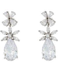 Nina - Essen Earrings (rose Gold/white Cz) Earring - Lyst