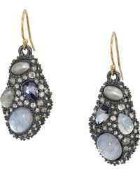 Alexis Bittar - Stone Cluster Drop Wire Earrings (ruthenium) Earring - Lyst