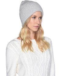 UGG - High Cuff Knit Hat (beige) Caps - Lyst