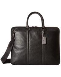 COACH - Sport Calf Metropolitan Brief (qb/chestnut) Briefcase Bags - Lyst
