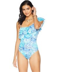 fe48b73a22cb8 Lilly Pulitzer - Tropez One-piece Swimsuit (resort White Squeeze The Juice)  Women s
