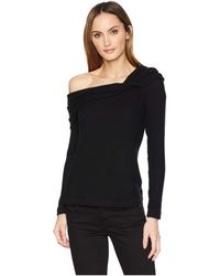 Three Dots - One Shoulder Brushed Sweater (black) Women's Sweater - Lyst