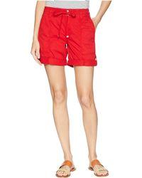 Lauren by Ralph Lauren - Cotton Twill Drawstring Shorts - Lyst