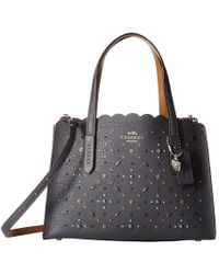COACH - Charlie 28 Carryall With Prairie Rivets (sv/midnight Navy) Shoulder Handbags - Lyst