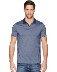 Perry Ellis - Essential End On End Polo (ink) Men's Clothing - Lyst