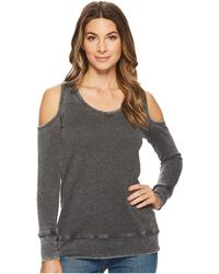 Allen Allen | Long Sleeve Cold Shoulder V-neck Sweatshirt | Lyst