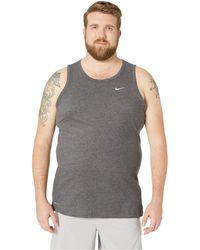 bfc6bd5bd8da2 Nike - Big Tall Dry Tank Top Dri-fit Cotton Solid (black Heather