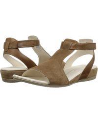1e04e71d0e6f7c Lyst - Sam Edelman Camel Gere Tasseled Fringe Thong Sandals in Brown