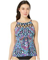 08ec0a9ed1a 24th   Ocean - Hidden Gem Strappy High Neck Tankini Top (multicolored)  Women s Swimwear