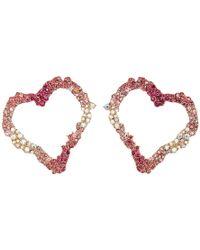 Betsey Johnson - Open Gypsy Heart Earrings - Lyst