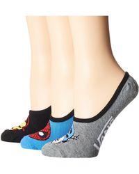 Vans - Avengers Canoodles 3-pack (multi) Women's No Show Socks Shoes - Lyst