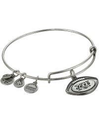 ALEX AND ANI - New York Jets Football Charm Bangle (rafaelian Silver Finish) Bracelet - Lyst