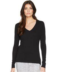 Adam Lippes - Long Sleeve V-neck Core Tee (white) Women's T Shirt - Lyst