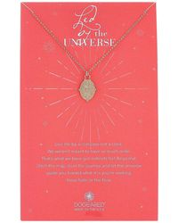 Dogeared - Led By The Universe, Celestial Compass Coin Charm Necklace - Lyst