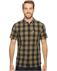 Fjallraven - High Coast Big Check Shirt Short Sleeve (un Blue) Men's Short Sleeve Button Up - Lyst
