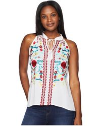 Scully - Summer Fun Embroidered Cotton Tank (white) Women's Clothing - Lyst