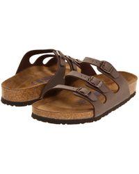 Birkenstock - Florida Soft Footbed - Birkibuc (mocha Birkibuc) Women's Sandals - Lyst