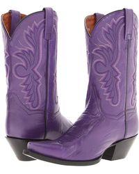 Dan Post - Wild Ride (blue/black) Cowboy Boots - Lyst