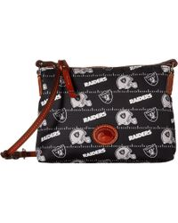 Dooney & Bourke - Nfl Nylon Crossbody Pouchette (blue/tan/patriots) Cross Body Handbags - Lyst