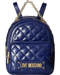 Love Moschino - Shiny Quilted Backpack (pink) Backpack Bags - Lyst