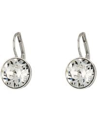 Swarovski - Bella Pierced Earrings (gray) Earring - Lyst