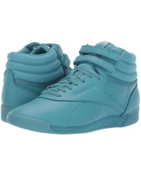 337dd0f7d324 Reebok - Freestyle Hi (icons Stellar Pink white) Women s Classic Shoes -  Lyst