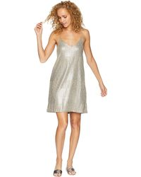 Bishop + Young - Metallic Slip Dress (metallic) Women's Dress - Lyst