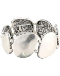 The Sak - Large Metal Stretch Bracelet (silver) Bracelet - Lyst
