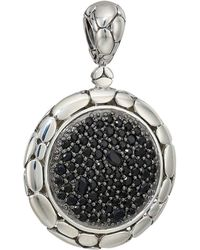 John Hardy - Kali Purelavafire Medium Round Pendant Necklace With Black Sapphire (silver) Necklace - Lyst