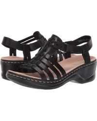 5fe11d991af1ca Clarks - Lexi Bridge (navy Leather) Women s Dress Sandals - Lyst