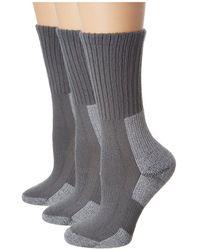 Thorlo - Trail Hiking Crew 3 Pair Pack (khaki) Women's Crew Cut Socks Shoes - Lyst