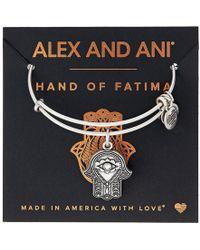 ALEX AND ANI - Path Of Symbols-hand Of Fatima Iii Bangle - Lyst
