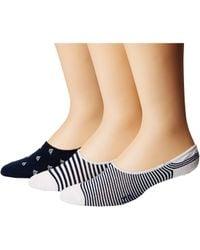 Polo Ralph Lauren - Sailboats Liner 3-pack Socks - Lyst