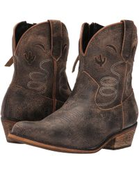 Dingo - Adobe Rose (light Brown Distresssed) Cowboy Boots - Lyst
