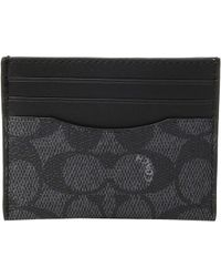 COACH - Card Case In Signature Canvas - Lyst