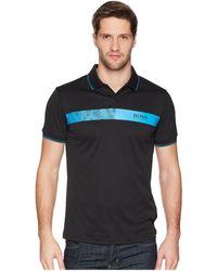 BOSS Green - Paule Pro 1 10170972 (black) Men's Short Sleeve Knit - Lyst
