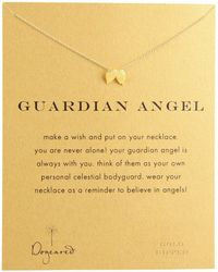 Dogeared - Guardian Angel Reminder Necklace (gold Dipped) Necklace - Lyst