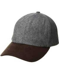 be6d3a656d6 San Diego Hat Company - Cth1502 Wool Crown And Faux Suede Brim Baseball Cap  (grey