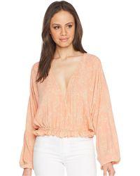 Amuse Society - Idyllic Woven Top (pink) Women's Clothing - Lyst