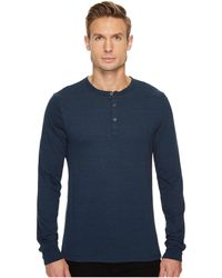 Threads For Thought - Tri-blend Long Sleeved Henley (heather Black) Men's Clothing - Lyst