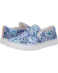 Lilly Pulitzer - Julie Sneaker (coastal Blue) Women s Slip On Shoes - Lyst 1a84eb93f