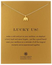 Dogeared - Lucky Us Elephant Reminder Necklace - Lyst