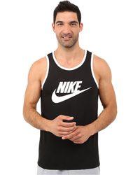 1aece6c07e2c07 Nike - Ace Logo Tank Top (white black black) Men s Sleeveless -