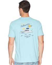 Tommy Bahama - Followers On Line Tee (bowtie Blue) Men's T Shirt - Lyst